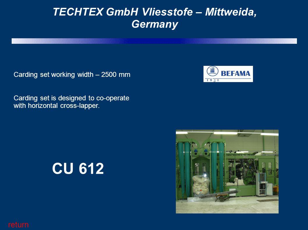 TECHTEX GmbH Vliesstofe – Mittweida, Germany