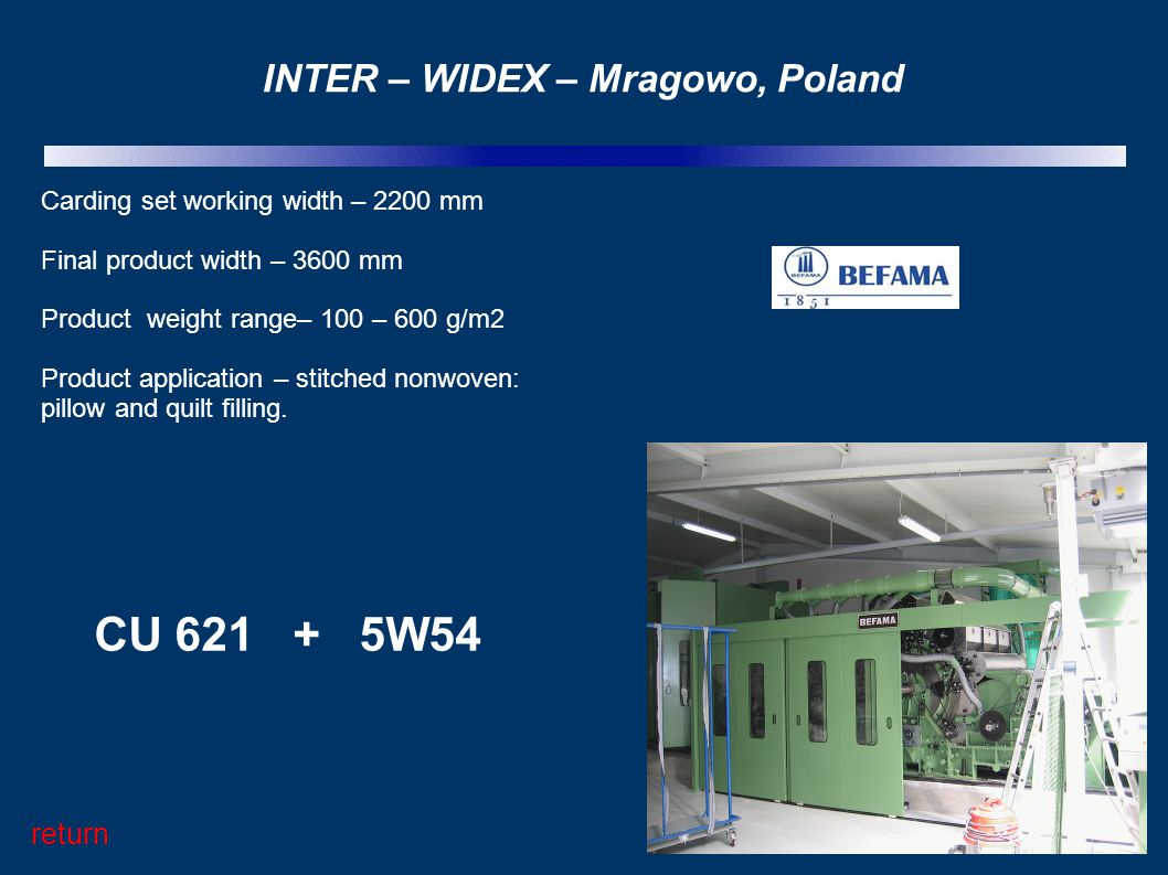 INTER – WIDEX – Mragowo, Poland