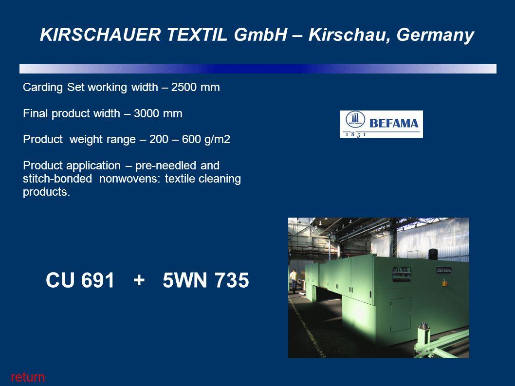 KIRSCHAUER TEXTIL GmbH – Kirschau, Germany