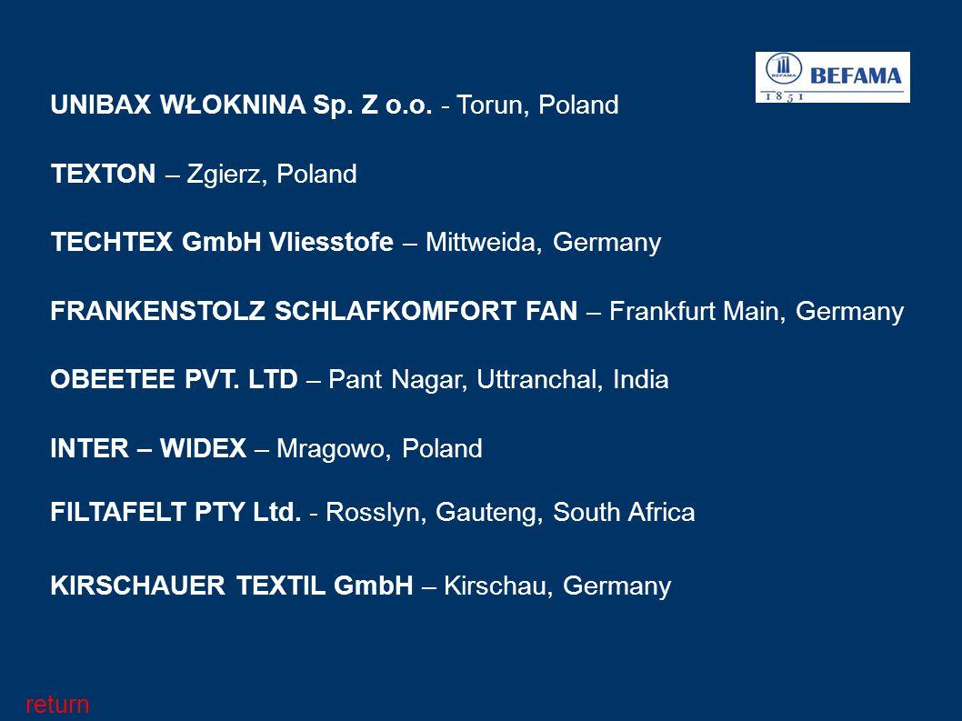 UNIBAX WŁOKNINA Sp. Z o.o. - Torun, Poland