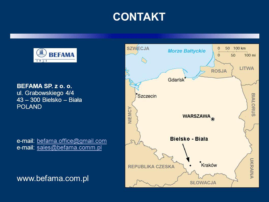 CONTAKT www.befama.com.pl BEFAMA SP. z o. o. ul. Grabowskiego 4/4