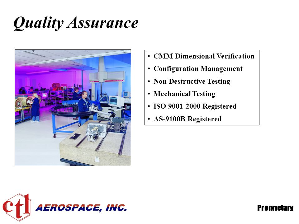 Quality Assurance CMM Dimensional Verification