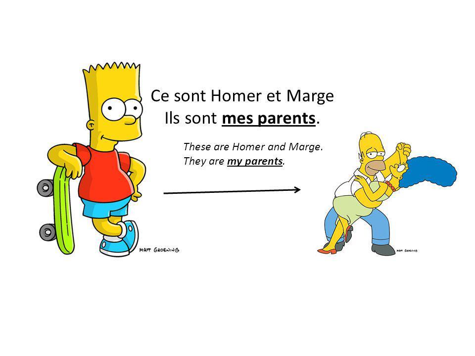 Ce sont Homer et Marge Ils sont mes parents.