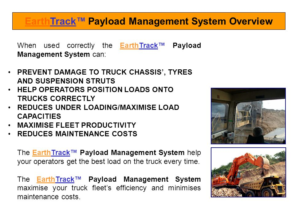 EarthTrack™ Payload Management System Overview