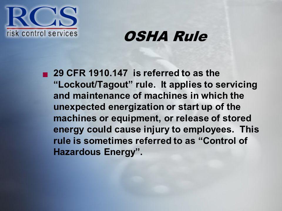 OSHA Rule