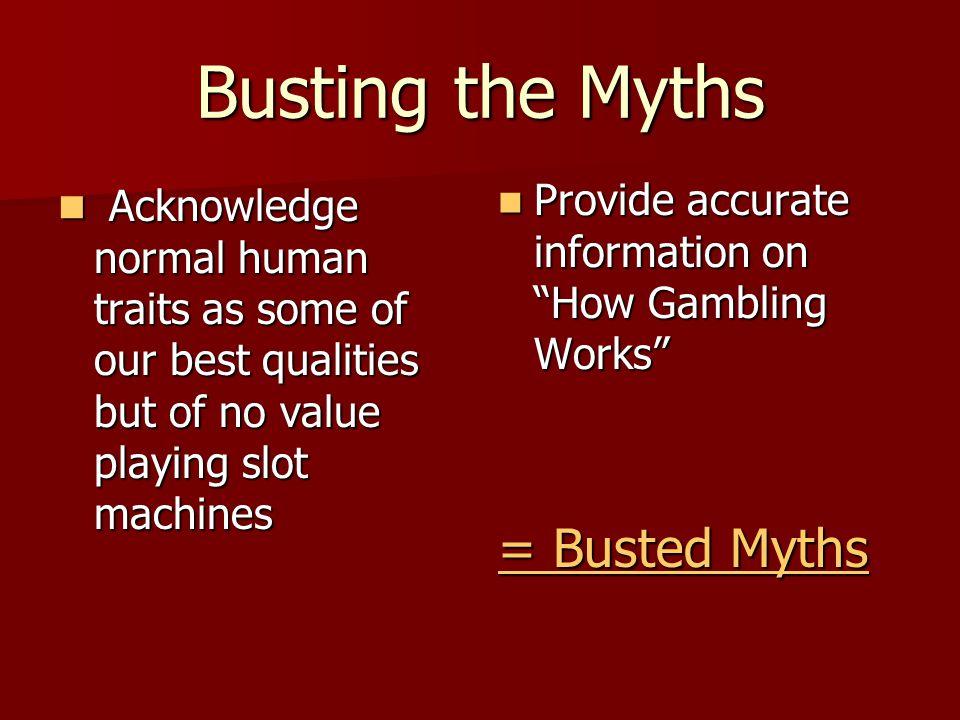 Busting the Myths = Busted Myths