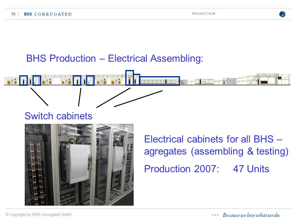 BHS Production – Electrical Assembling: