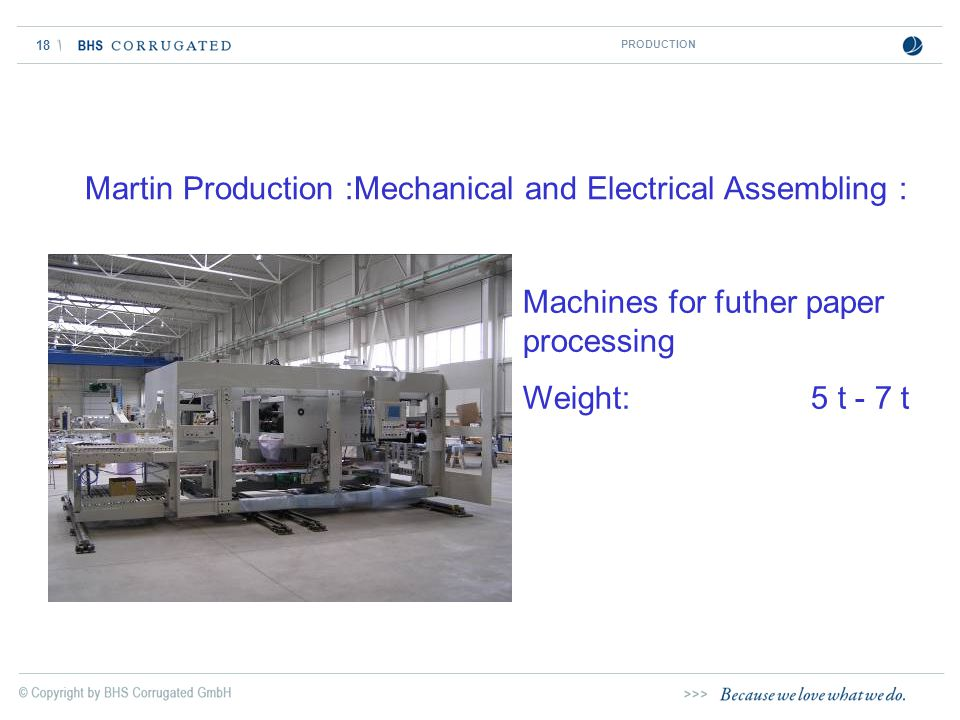 Martin Production :Mechanical and Electrical Assembling :