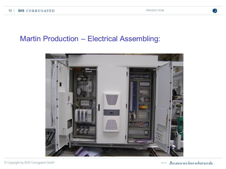 Martin Production – Electrical Assembling: