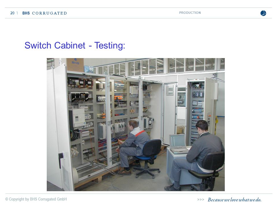 Switch Cabinet - Testing:
