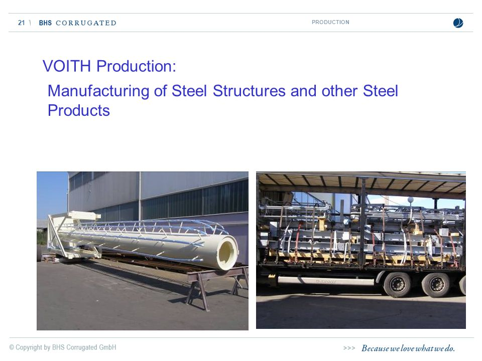 Manufacturing of Steel Structures and other Steel Products