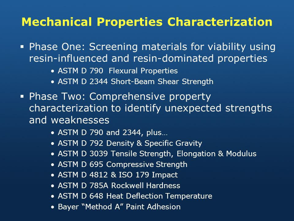 Mechanical Properties Characterization