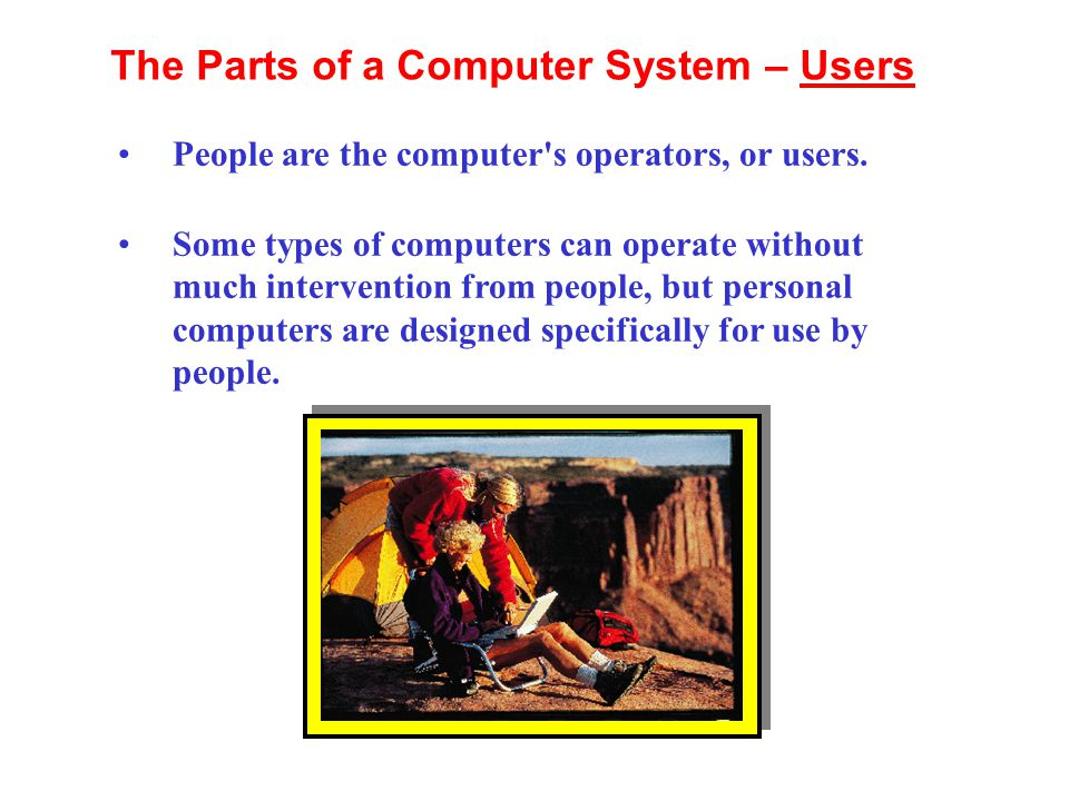 The Parts of a Computer System – Users