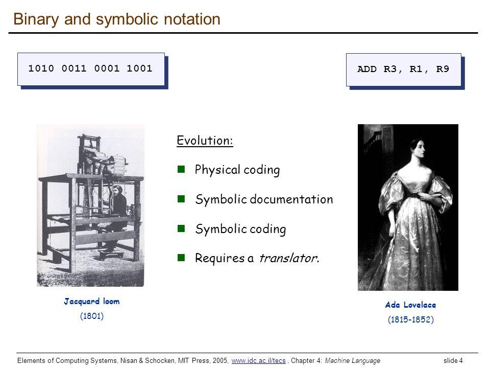 Binary and symbolic notation