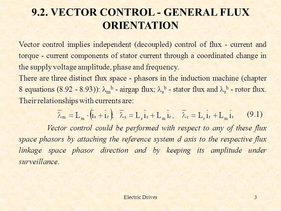 9.2. VECTOR CONTROL - GENERAL FLUX ORIENTATION