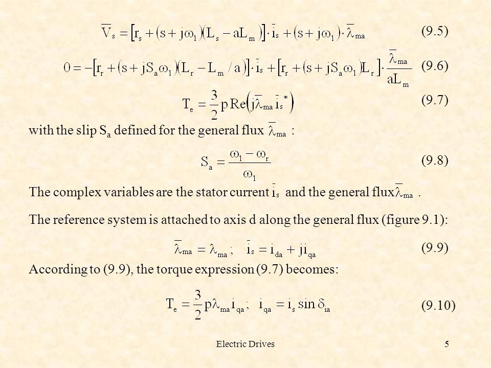 with the slip Sa defined for the general flux : (9.8)