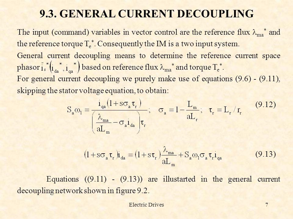 9.3. GENERAL CURRENT DECOUPLING