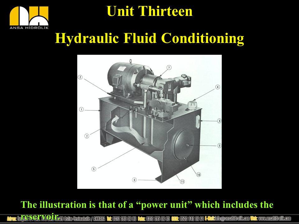 Hydraulic Fluid Conditioning