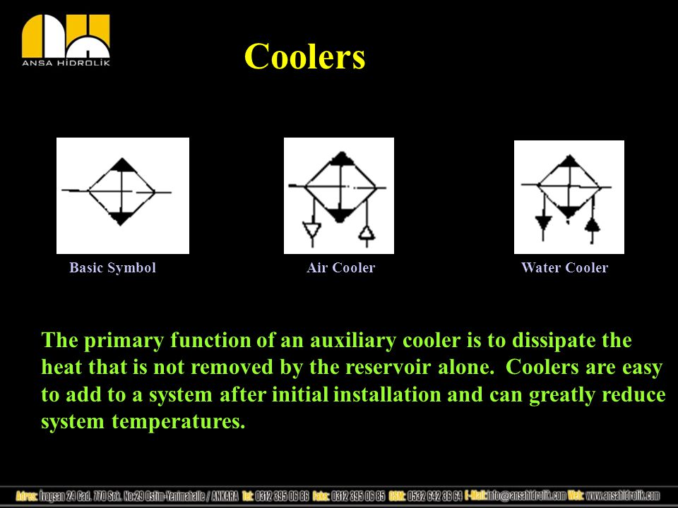 Coolers Basic Symbol. Air Cooler. Water Cooler.