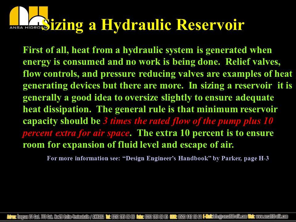 Sizing a Hydraulic Reservoir