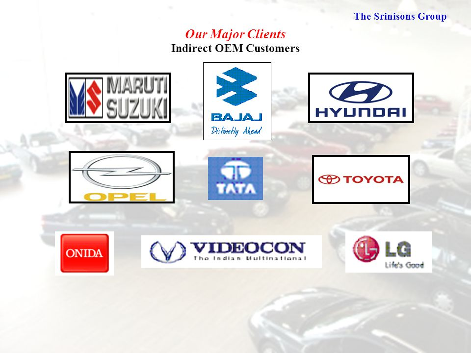 Our Major Clients Indirect OEM Customers