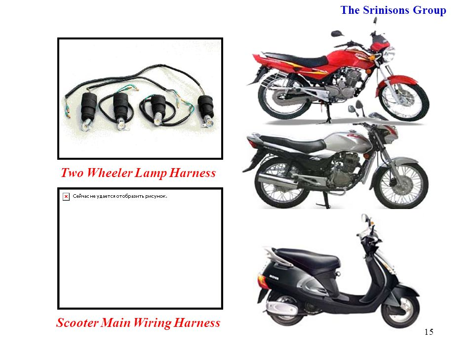 Two Wheeler Lamp Harness Scooter Main Wiring Harness