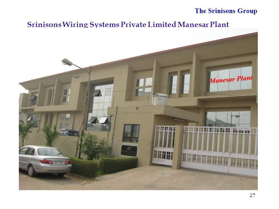 Srinisons Wiring Systems Private Limited Manesar Plant
