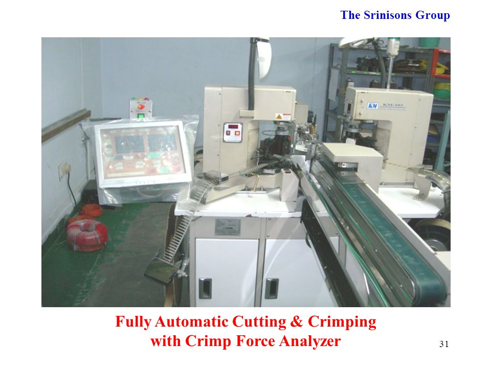 Fully Automatic Cutting & Crimping with Crimp Force Analyzer