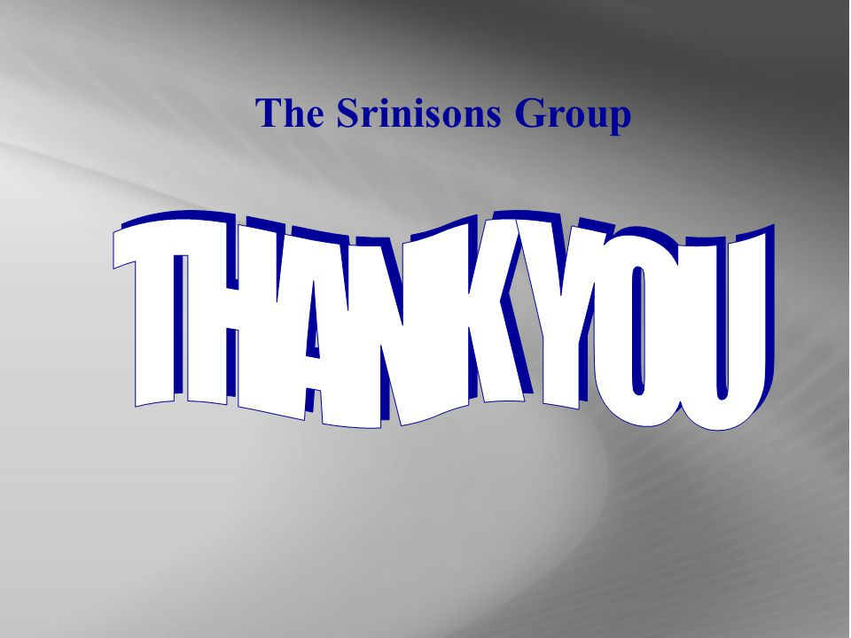 The Srinisons Group THANK YOU