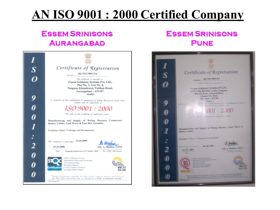 AN ISO 9001 : 2000 Certified Company