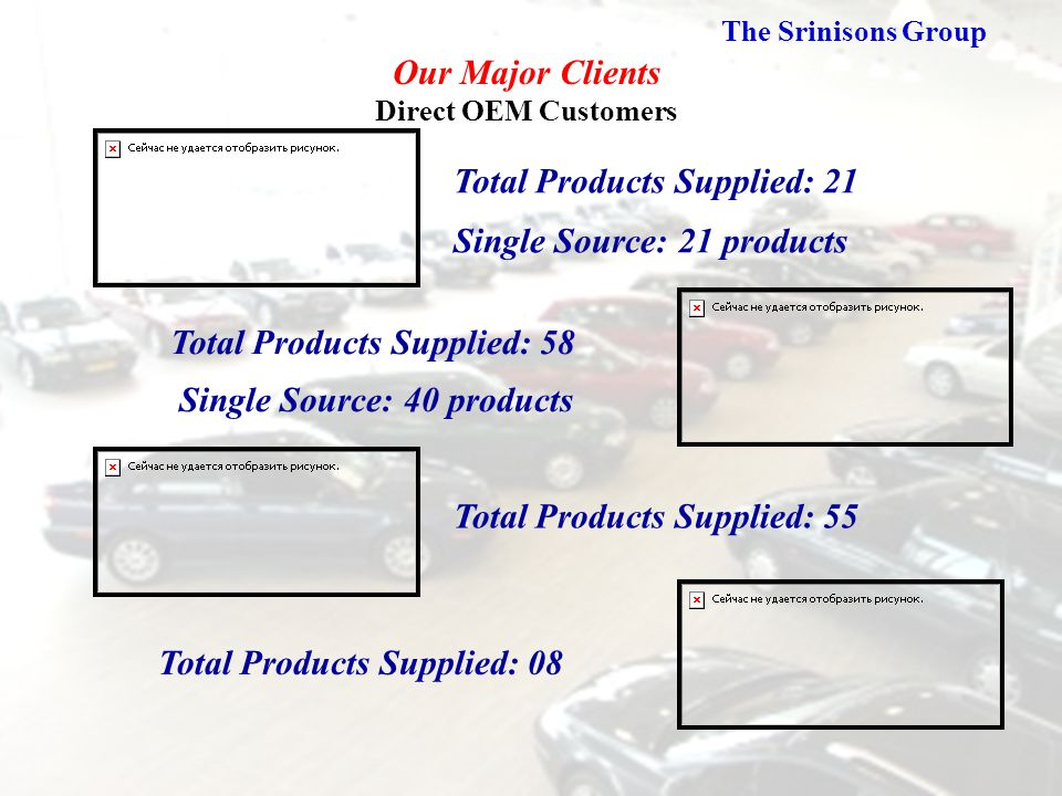 Our Major Clients Direct OEM Customers