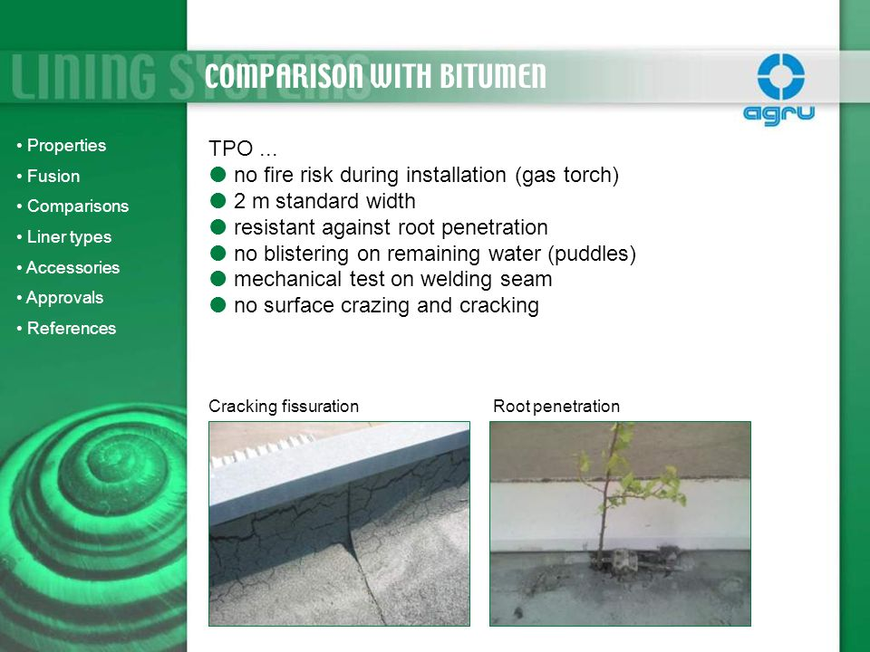 COMPARISON WITH BITUMEN
