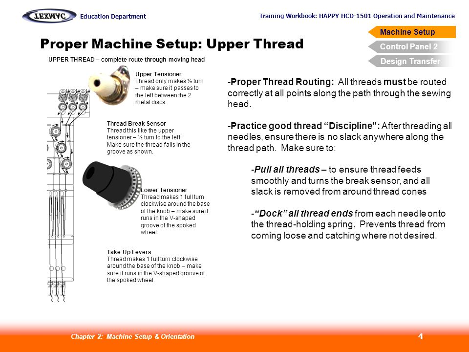 Proper Machine Setup: Upper Thread