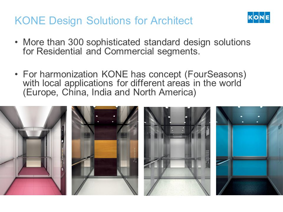 KONE Design Solutions for Architect