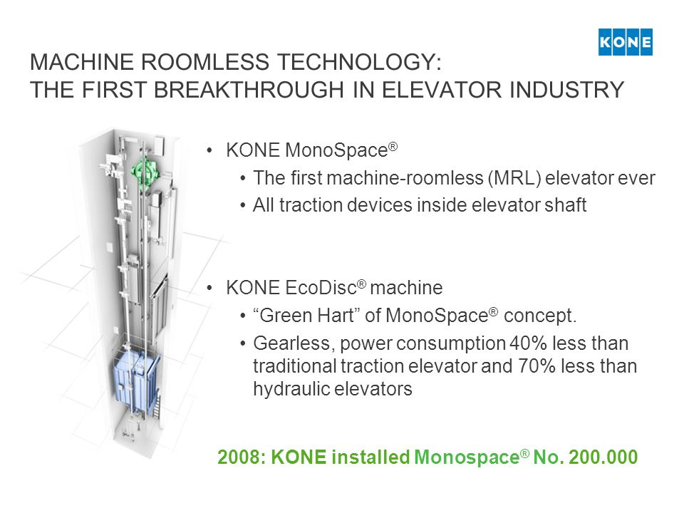 MACHINE ROOMLESS TECHNOLOGY: THE FIRST BREAKTHROUGH IN ELEVATOR INDUSTRY