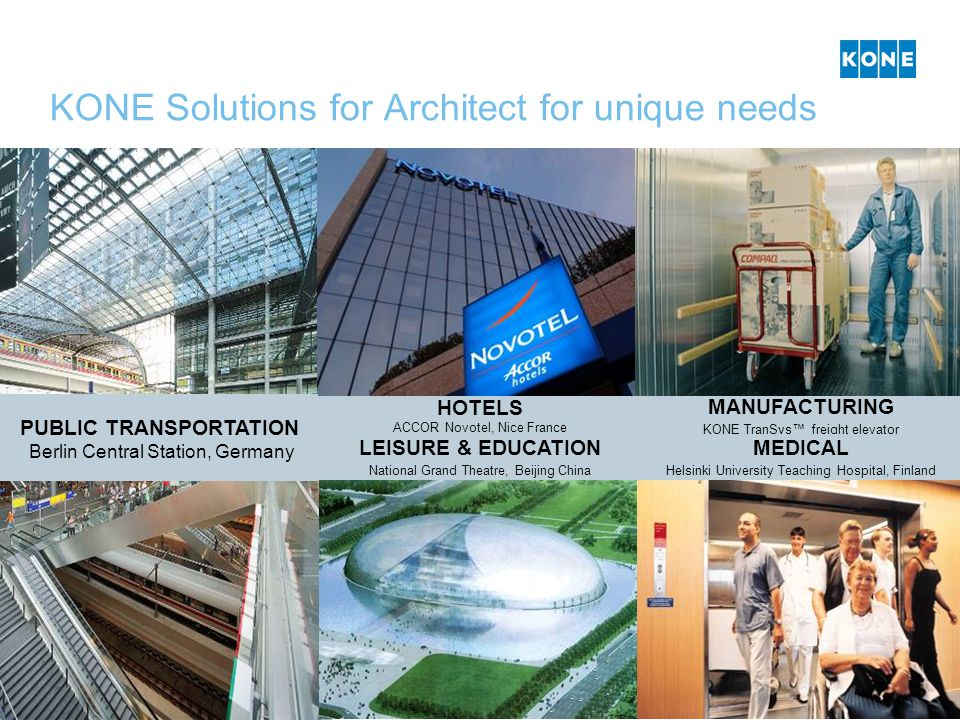 KONE Solutions for Architect for unique needs