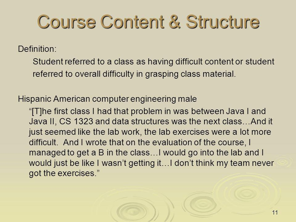Course Content & Structure