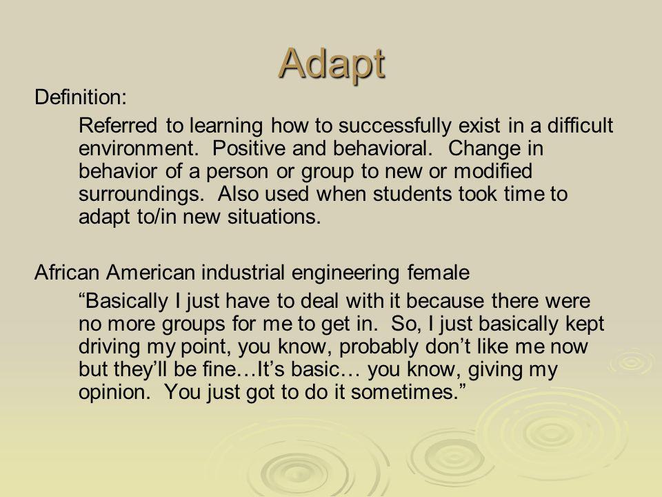 Adapt Definition: