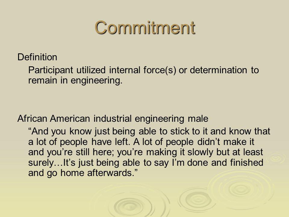 Commitment Definition