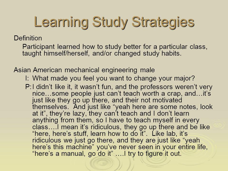 Learning Study Strategies
