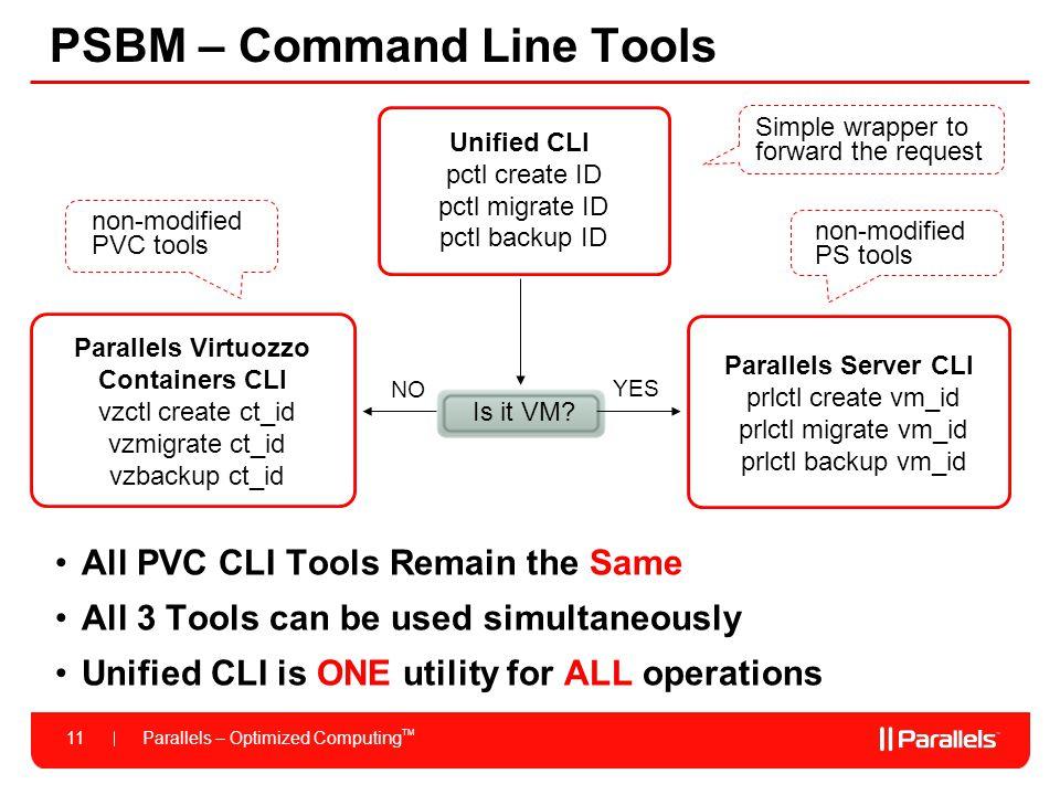 PSBM – Command Line Tools