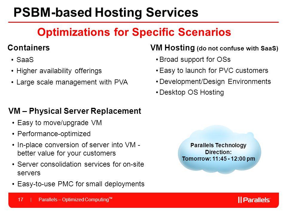 PSBM-based Hosting Services
