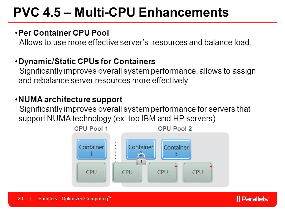 PVC 4.5 – Multi-CPU Enhancements