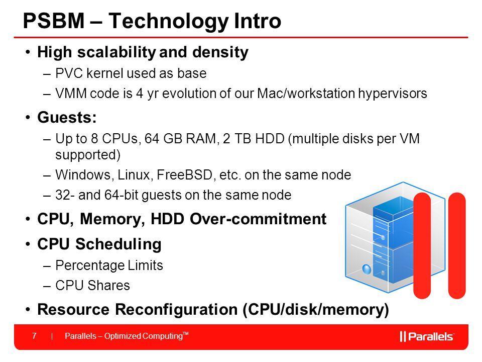 PSBM – Technology Intro