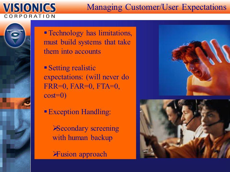 Managing Customer/User Expectations