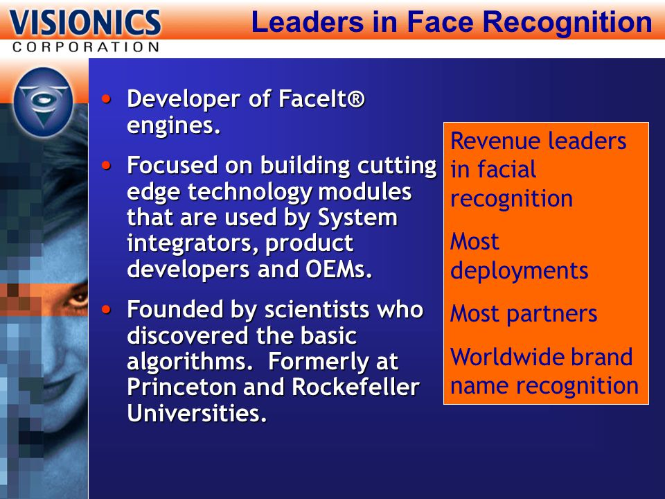 Leaders in Face Recognition