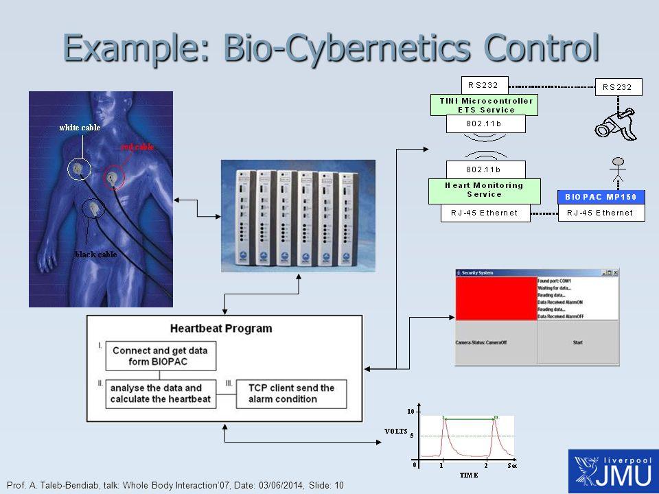 Example: Bio-Cybernetics Control