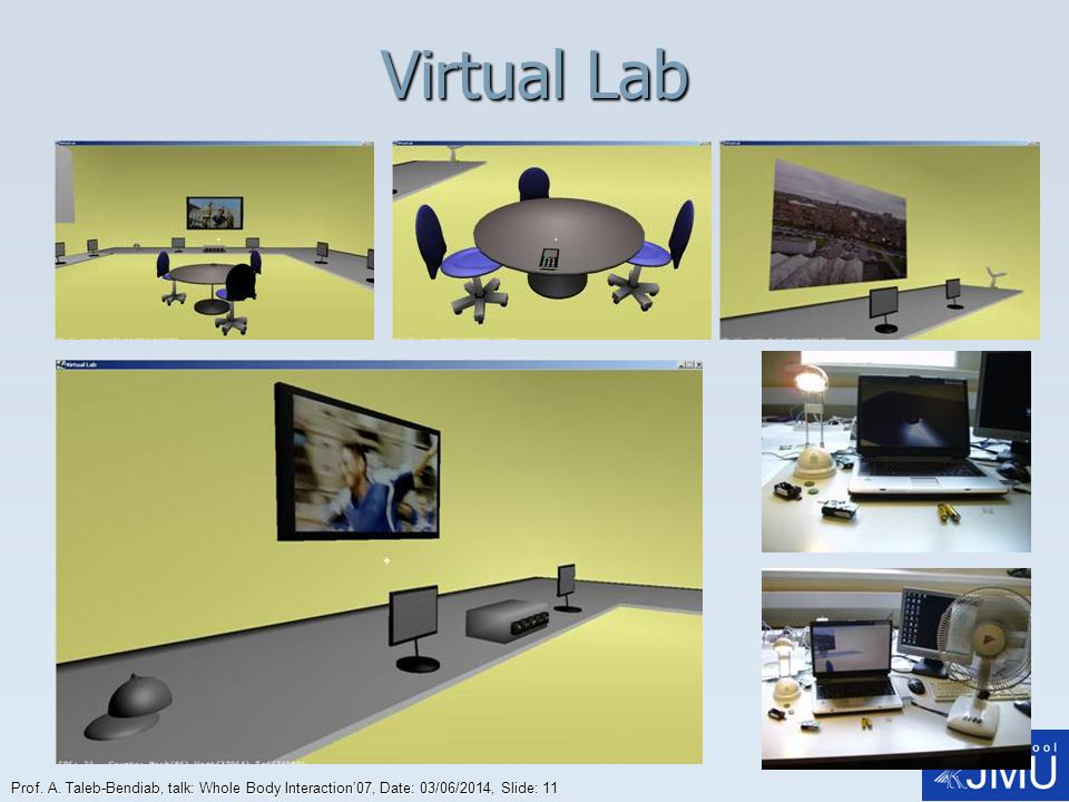 Virtual Lab Prof. A. Taleb-Bendiab, talk: Whole Body Interaction'07, Date: 01/04/2017, Slide: 11