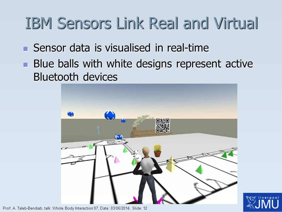 IBM Sensors Link Real and Virtual