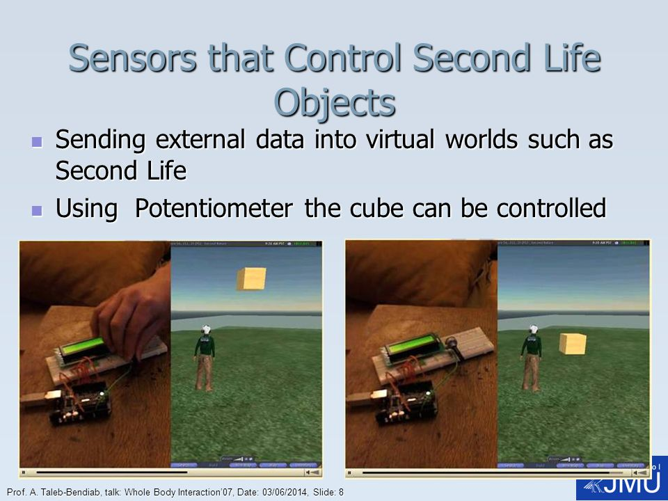 Sensors that Control Second Life Objects